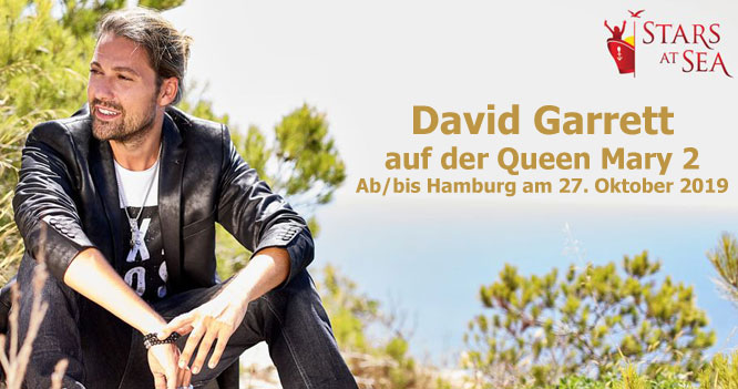 David Garrett auf der CUNARDS Queen Mary 2